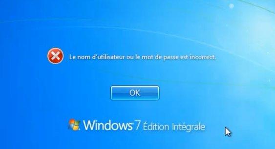 Mot de passe Windows perdu ?