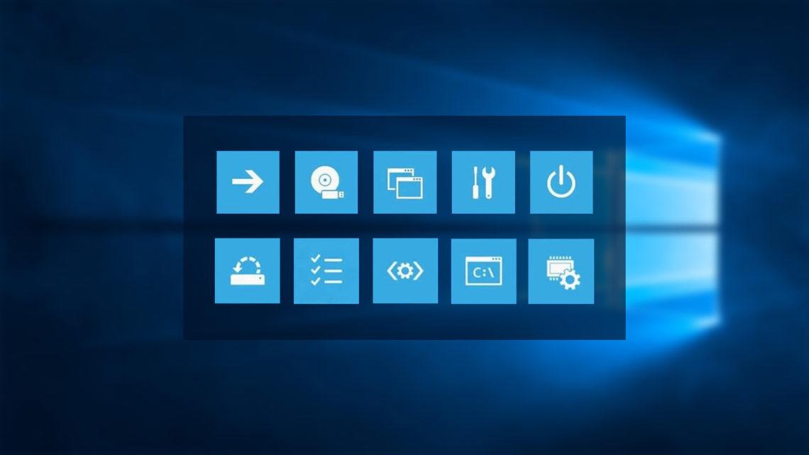Afficher les options de démarrage avancées de Windows 10